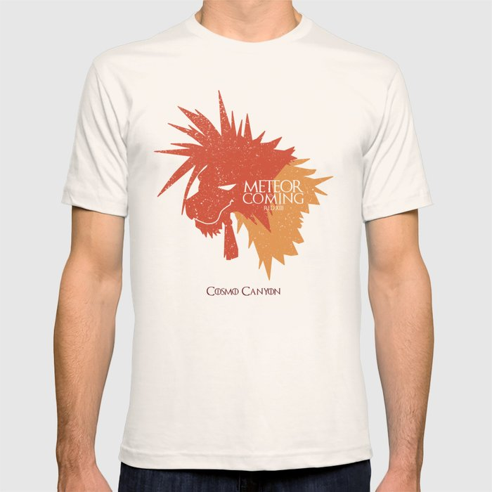 Red XIII METEOR IS COMING T-shirt
