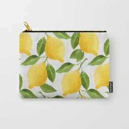 Watercolor Lemons Carry-All Pouch