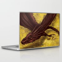 smaug Laptop & iPad Skins featuring Smaug by toibi