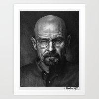 heisenberg Art Prints featuring Heisenberg by Mike Robins