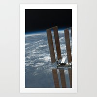 International Space Station ISS, Endeavour 2011 Art Print