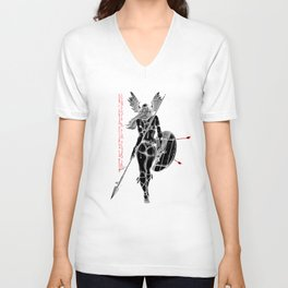 The Valkyrie - Negative Unisex V-Neck