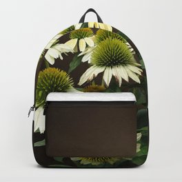Wild White Coneflowers Backpack