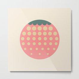 strawberry    retro dusty Metal Print