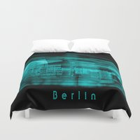 berlin Duvet Covers featuring Berlin by Laake-Photos