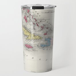 Vintage Map of The Caribbean (1865) Travel Mug