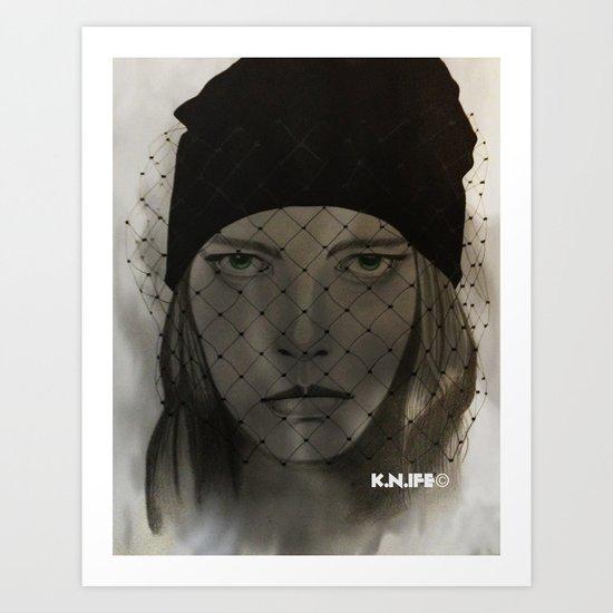 Mystery Girl Art Print