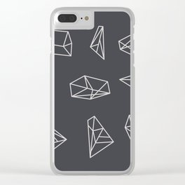 Silent Mind Construction Clear iPhone Case