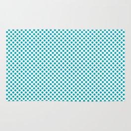 Scuba Blue Polka Dots Rug