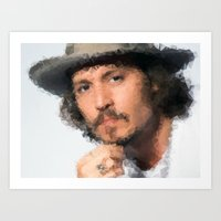 johnny depp Art Prints featuring Johnny Depp by lauramaahs