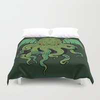 cthulhu Duvet Covers featuring Cthulhu by missmonster