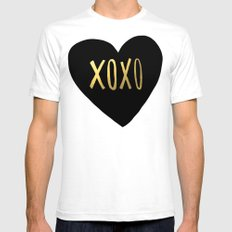 XOXO Heart White SMALL Mens Fitted Tee