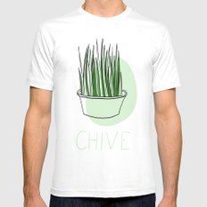 Chive MEDIUM White Mens Fitted Tee