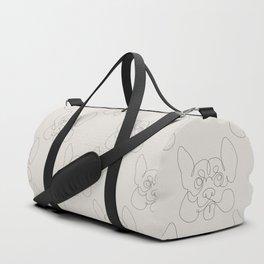 One Line Corgi Duffle Bag