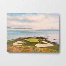 Pebble Beach Golf Course Signature Hole 7 Metal Print