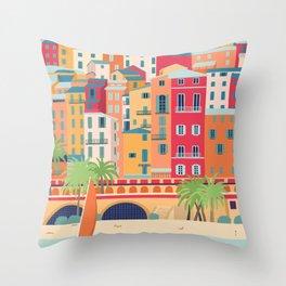 French Riviera, Menton  Throw Pillow