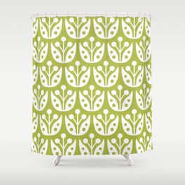 Mid Century Flower Pattern 5 Shower Curtain