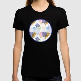Blue Retro Pattern T-shirt