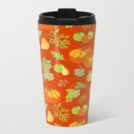 Autumn abundance pattern Metal Travel Mug