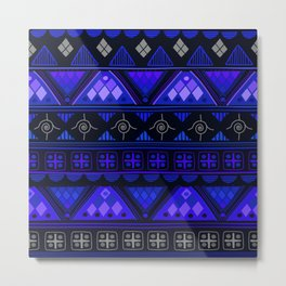 Boho Geometric Pattern Var. 2 Metal Print