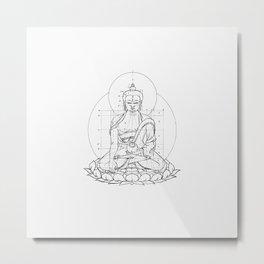 Buddha metrics Metal Print