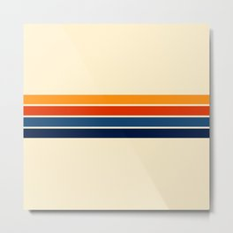 Classic Retro Stripes Metal Print
