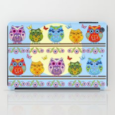 Chilling Summer owls iPad Case