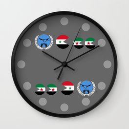 United Nations is watching Syria Wall Clock