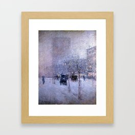 Childe Hassam Late Afternoon, New York, Winter Framed Art Print