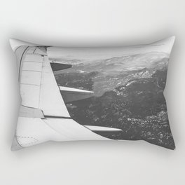Mountain State // Colorado Rocky Mountains off the Wing of an Airplane Landscape Photo Rectangular Pillow