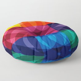 Reflections abstraction art decorative Floor Pillow