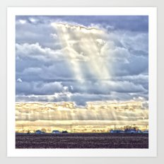 Countryside Rays of Light Art Print