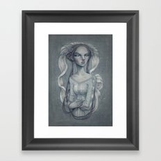 White Wedding Framed Art Print