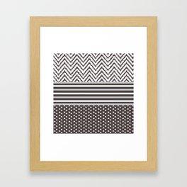 Ikat Chocolate Chevron Framed Art Print