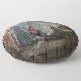 12,000pixel-500dpi - Arturo Michelena - Charlotte Corday - Digital Remastered Edition Floor Pillow