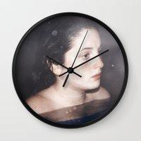 siren Wall Clocks featuring Siren by emmacanfield