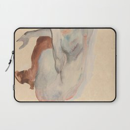 Crouching Nude in Shoes and Black Stockings, Back View - Egon Schiele Laptop Sleeve
