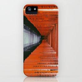 Kyoto Fushimi Inari Taisha RED JAPAN Black and White Digital Film Photography Pop Art iPhone Case
