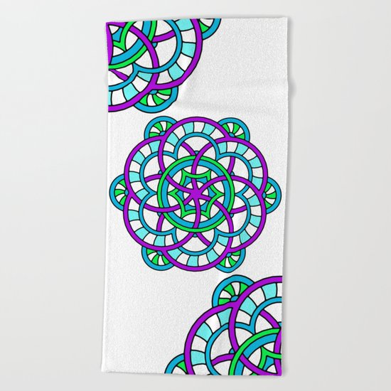 Celtic | Colorful | Mandala Beach Towel
