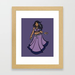 Sagittarius Belly Dancer Framed Art Print
