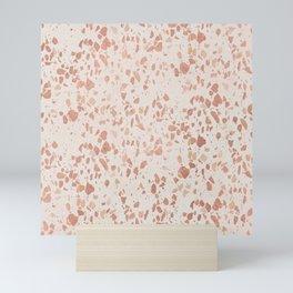 Elegant ivory rose gold abstract marble Mini Art Print