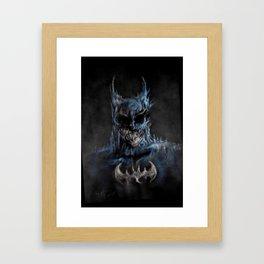 the darkest knight  Framed Art Print