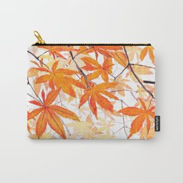 orange maple leaves watercolor Carry-All Pouch