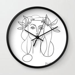 Picasso lady  Modern Sketch Picasso Art Modern Minimalist Wall Clock