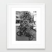 bikes Framed Art Prints featuring Bikes by DarkMikeRys