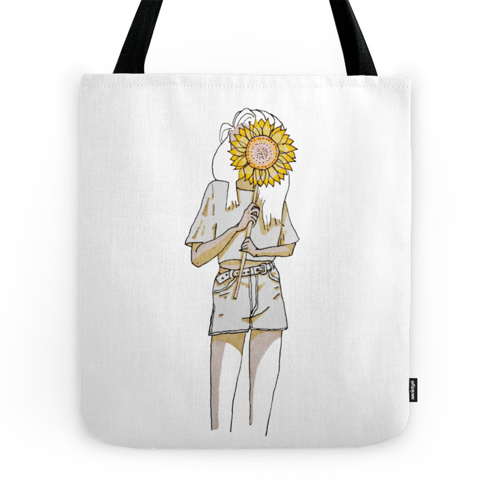 Sunflower Girl Tote Purse by onourway (TBG7472640) photo