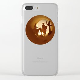 Cowboys Clear iPhone Case