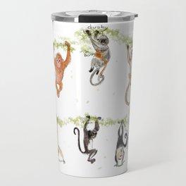 Ten Monkeys and Two Apes Travel Mug