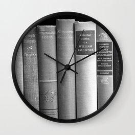 Books - Black and White Wall Clock