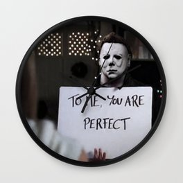 Michael Myers in Love Actually Wall Clock